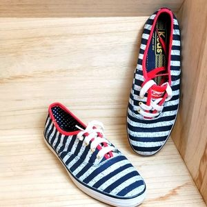 Keds Womens Navy Blue White Striped Shoes